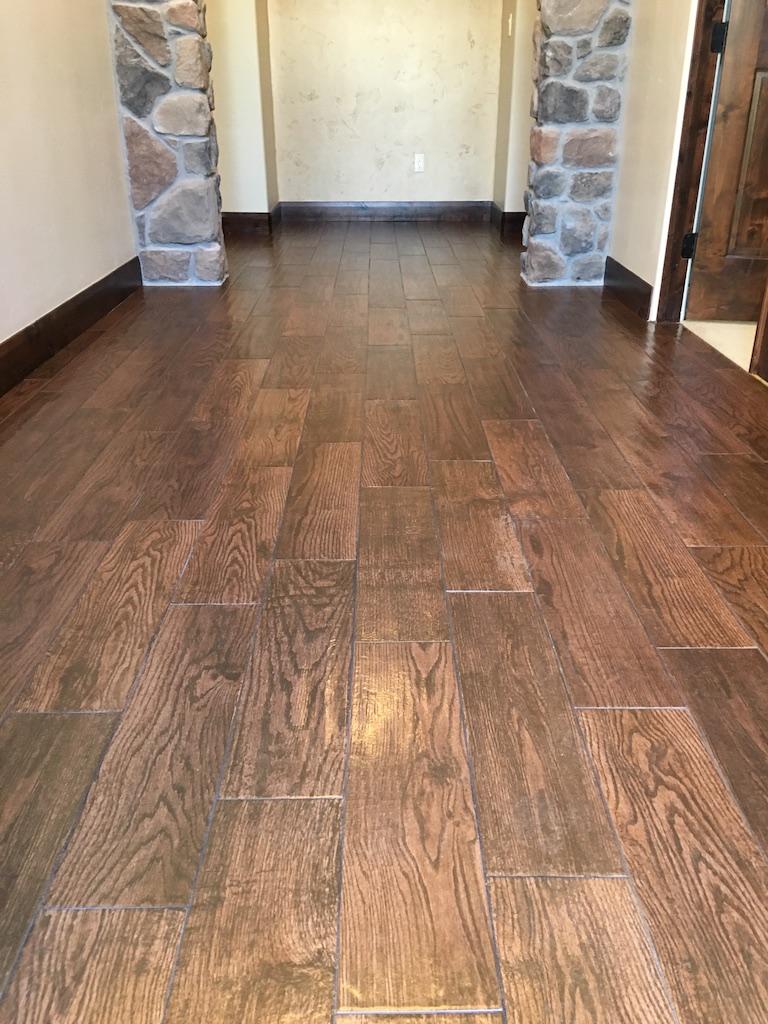 Wood Plank Tile Floor