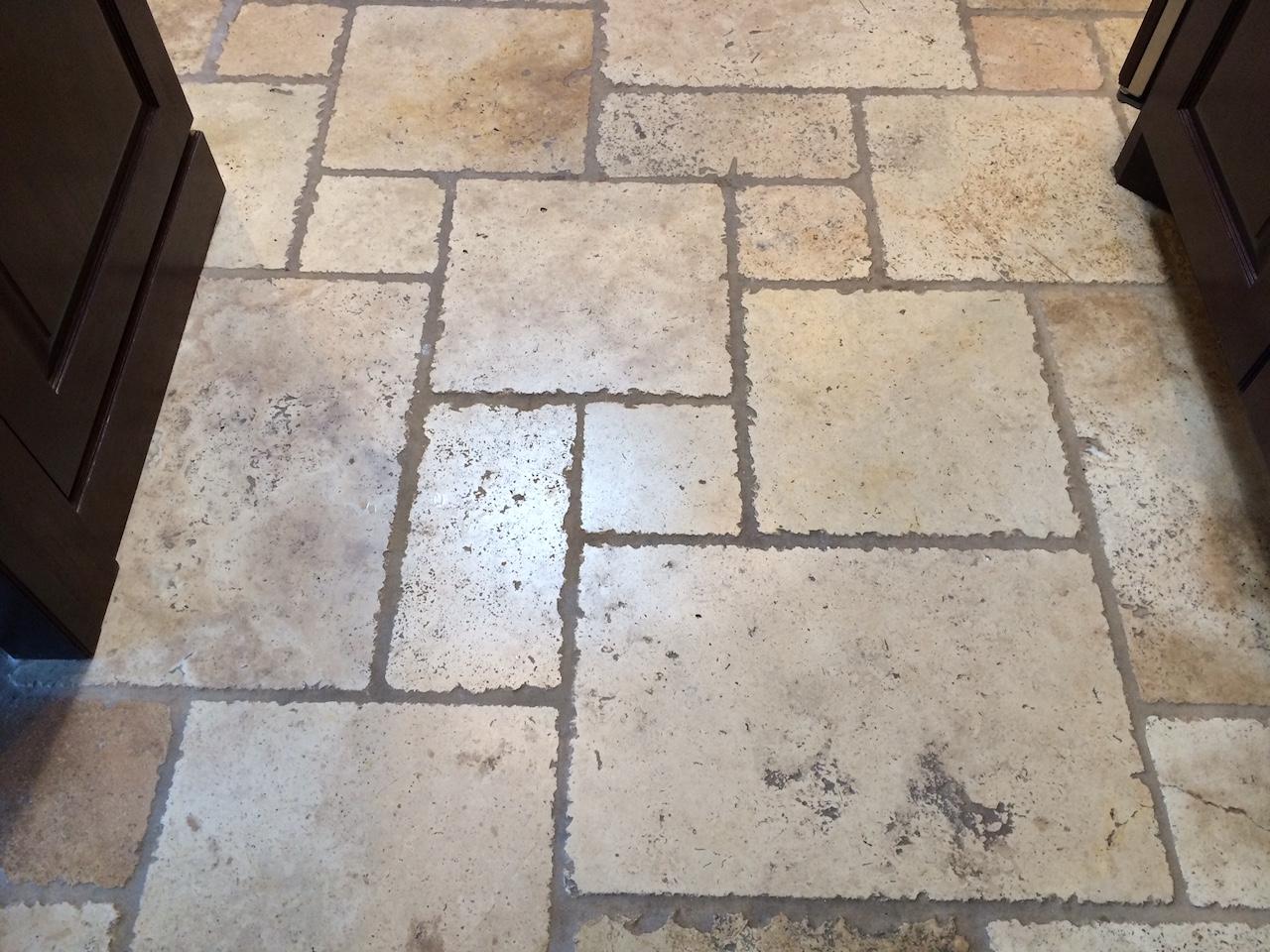 Cleaning Chisled Edge Versailles Pattern Travertine Suva